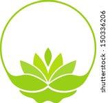green lotus symbol | Shutterstock .eps vector #150336206