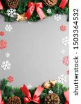 christmas background with... | Shutterstock . vector #1503364532