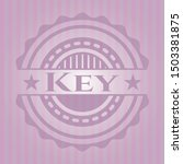 key badge with pink background. ... | Shutterstock .eps vector #1503381875