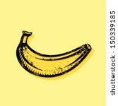 hand drawn banana artwork for t ... | Shutterstock .eps vector #150339185