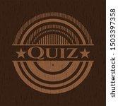 quiz badge with wood background | Shutterstock .eps vector #1503397358