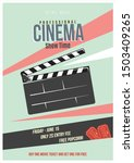cinema retro poster with... | Shutterstock .eps vector #1503409265