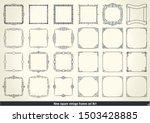 vintage calligraphic frames set.... | Shutterstock .eps vector #1503428885