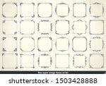 vintage calligraphic frames set.... | Shutterstock .eps vector #1503428888