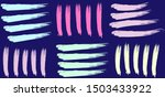 hand painted with strokes of...   Shutterstock .eps vector #1503433922