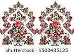 beautiful digital flower and... | Shutterstock . vector #1503435125
