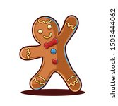 gingerbread man isolated on... | Shutterstock .eps vector #1503444062