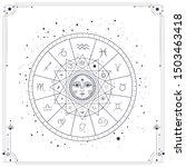 vector illustration set of moon ... | Shutterstock .eps vector #1503463418