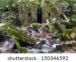 A Ruined Derelict Building At...