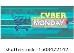 cyber monday background with... | Shutterstock .eps vector #1503472142