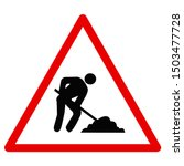traffic signs red triangle  ... | Shutterstock .eps vector #1503477728