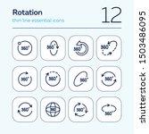 rotation line icon set. set of... | Shutterstock .eps vector #1503486095