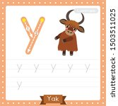 letter y lowercase cute... | Shutterstock .eps vector #1503511025
