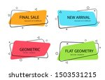 set of trendy banner with flat... | Shutterstock .eps vector #1503531215