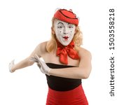 Funny Mime Actress Dancing On...