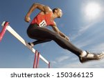 low angle view of determined... | Shutterstock . vector #150366125