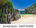 Limestone Rock Formation On...