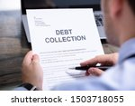 Man Reading Debt Collection...