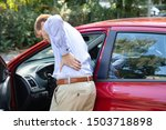 driver standing having backpain ... | Shutterstock . vector #1503718898
