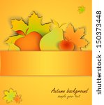 autumn background with leaves ... | Shutterstock .eps vector #150373448