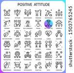 positive attitude concept line...   Shutterstock .eps vector #1503765245