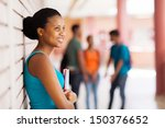 pretty african college student... | Shutterstock . vector #150376652