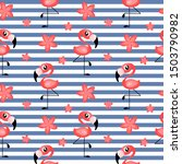 striped seamless pattern with... | Shutterstock .eps vector #1503790982
