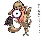 big eye,big lens,browse,browsing,burberry,cartoon,character,checking,clip art,clipart,detective,detective magnifying glass,digital,discover,discovery