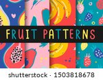 collection of tropical bright... | Shutterstock .eps vector #1503818678