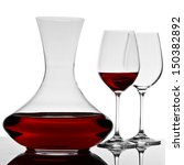 Decanter And Two Glasses