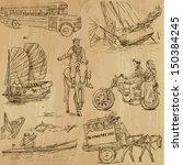 transportation around the world ... | Shutterstock .eps vector #150384245