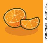 orange fruit food vector fresh... | Shutterstock .eps vector #1503843212