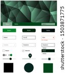 dark green vector design ui kit ...