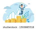 profitable investment  funding... | Shutterstock .eps vector #1503885518