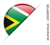 south africa flag glossy button | Shutterstock . vector #150389708