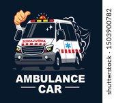 ambulance car icon. ambulance... | Shutterstock .eps vector #1503900782