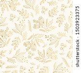 golden vintage floral pattern... | Shutterstock .eps vector #1503923375