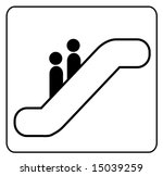 sign showing two people riding... | Shutterstock .eps vector #15039259