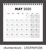 may 2020 calendar with wire band | Shutterstock .eps vector #1503969338