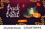 trick or treat  greeting banner ... | Shutterstock .eps vector #1503978995