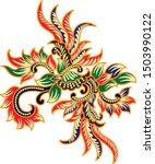 beautiful flower vector  batik...   Shutterstock .eps vector #1503990122