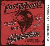 vector vintage race poster. | Shutterstock .eps vector #150400022