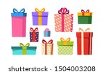 gift boxes set  presents... | Shutterstock .eps vector #1504003208