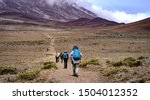 Group Of Hikers Trekking...