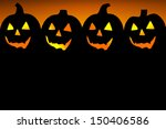 halloween pumpkin background... | Shutterstock . vector #150406586