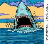 Dangerous Aggressive Shark In...