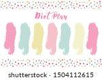 vector weekly diet planner.... | Shutterstock .eps vector #1504112615