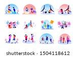 set bundle of children play at... | Shutterstock .eps vector #1504118612