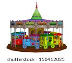 merry go round  isolated on the ... | Shutterstock . vector #150412025