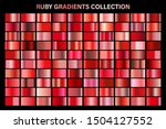 red ruby glossy gradient  metal ... | Shutterstock .eps vector #1504127552